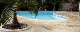 piscine quartzite jaune